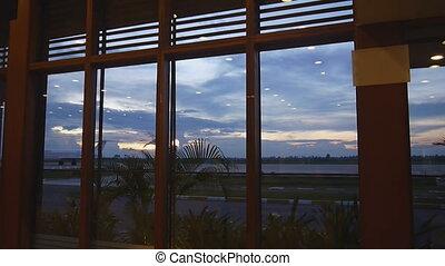 Siem Reap airport sunset - Sunset landscape of Siem Reap...