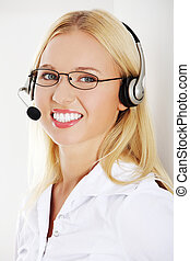 Call centre employee - Portrait of a successful young female...