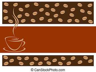 Background with coffee. - Abstract coffee background. In the...