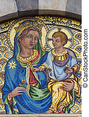 Pisa, mosaic of Santa Caterina church - Pisa Tuscany, Italy...