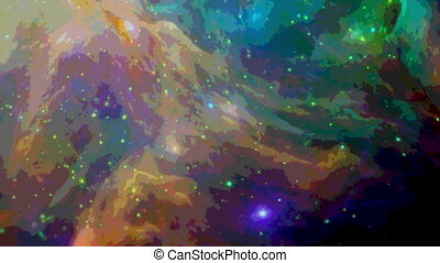 Watercolor style space background - Colorful and dynamic...