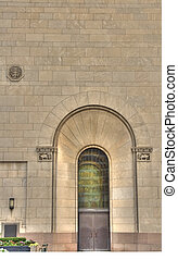 arched doorway - old stone arched doorway