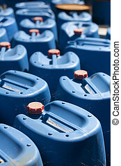 Old blue canisters for oil products - Ordered old blue...