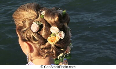 Stylish haircut - Stylish hairstyle for the bride.