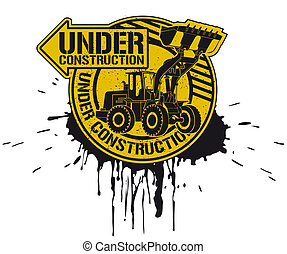 Under construction stamp - The vector image of a stamp with...