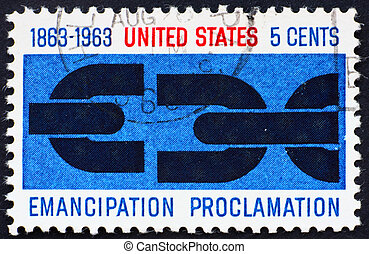 Postage stamp USA 1963 Emancipation Proclamation - UNITED...