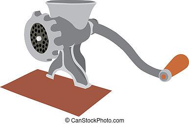 Meat grinder. An old meat grinder