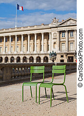Parisian metallic chairs Chairs for relaxation, the place of...