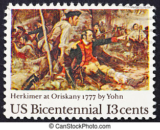Postage stamp USA 1977 Battle of Oriskany - UNITED STATES OF...