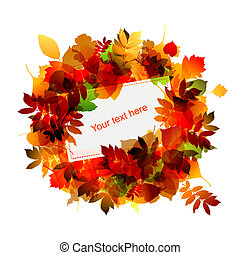 Autumn frame with place for your text