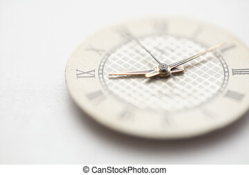 Old clock dial  on the white background