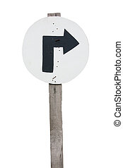 Signs and turn right. - Circle on the right-turn signs on...