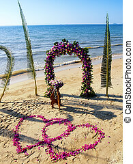 Wedding ceremony on a beach - Wedding ceremony place on a...