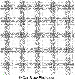 Vector illustration of perfect maze. EPS 8
