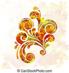Abstract Design - vector illustration of a colorful floral...