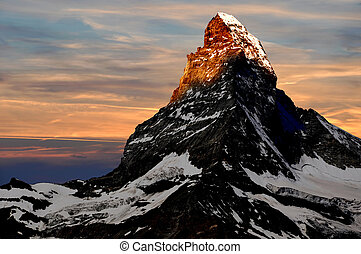 sunrise on the Matterhorn - Swiss Alps,Europe