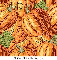 Seamless pumpkin background