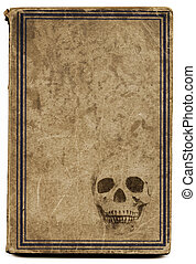 Old witchcraft book - Very old brown book with framed cover...