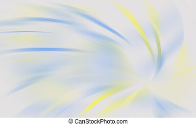 Blue and yellow streaks - Blurred blue and yellow streaks on...