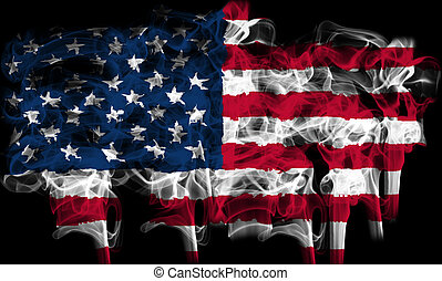 flag of america, usa - graphic with the flag of america, usa