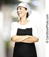 middle aged woman - portrait of middle aged woman wearing...