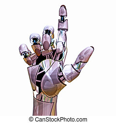 Android Pointer - Robotic hand pointing
