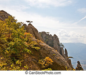 Autumn in mountains Crimea Mountain Southern Demerdzhi
