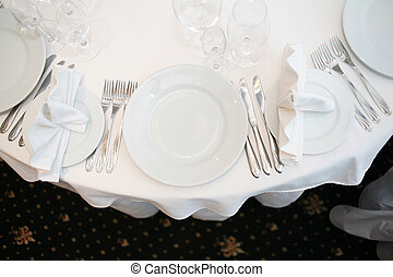 Banquet table - Elegant tables set up for a wedding banquet