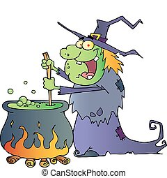 Warty Halloween Witch