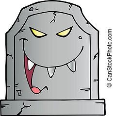 Laughing Evil Headstone