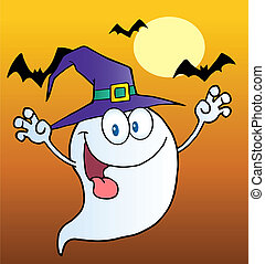 Scary Halloween Ghost Cartoon
