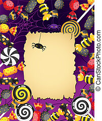 Halloween sweets card