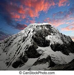 Mountain Chopicalqui - Peru - A summit in the Cordillera...