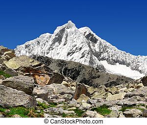 Mountain Pisco - Peru - A summit in the Cordillera Blanca -...