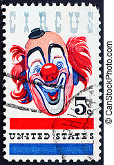 Postage stamp USA 1966 happy Clown - UNITED STATES OF...