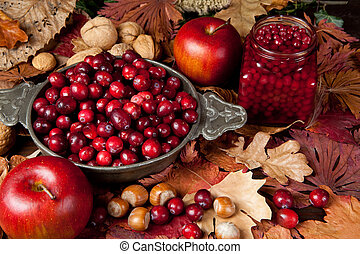 Thanksgiving fruits - Thanksgiving still-life with...