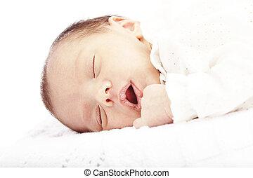 Nowo narodzony, niemowlę, spanie