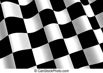 Chequered Flag Concept - A Colourful 3d Rendered Chequered...
