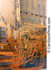 Integrated microcircuits - Microphoto of an integrated...