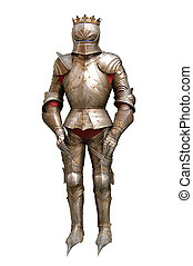 Iron armour of the knight, panoplie - Panoplies of medieval...