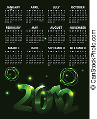 Colorful Calendar 2012