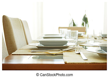 Festive serving of table - Serving of table. Etiquette