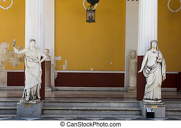 Achillion palace statues , Corfu , Greece