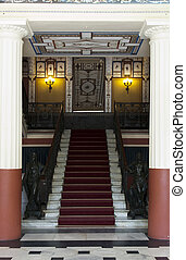 MAin entrance stairs from Achillion palace - Corfu, Greece