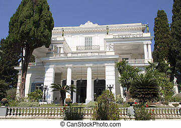 Achillion palace in Corfu - Greece