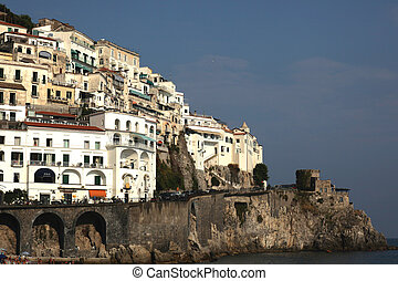 Amalfi  - view at the hill of Amalfi town, Italy
