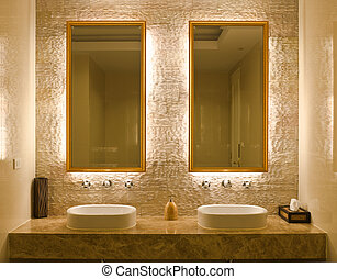 interior design of a bathroom - Modern style interior design...