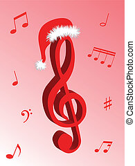 Music for Christmas - Music notes as symbol of Christmas...