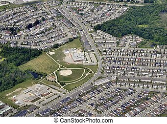Kitchener Subdivision - aerial view of a subdivision in...