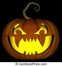 Halloween Jack O Lantern 01 - A illustration of a spooky...